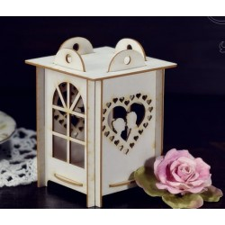 Chipboard - Love lantern 3D / small