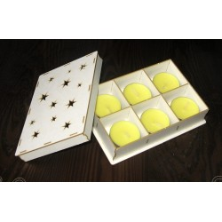 Chipboard - TEALIGHT BOX - STARS