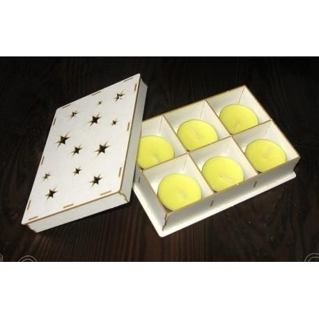 Chipboard - TEALIGHT BOX - STARS