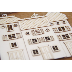 Chipboard - Tenement house (flat), set of 3 houses