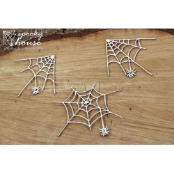 Chipboard -  Spider's  web /3pcs