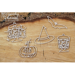 Chipboard -  Halloween Tricks /5pcs