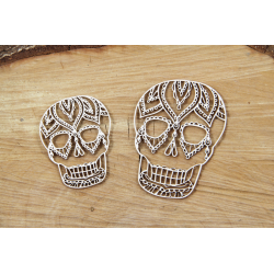 Chipboard - Mehendi  skulls/2pcs