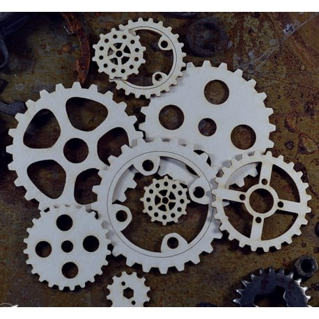 Chipboard - Steampunk/Big Gears/9pcs