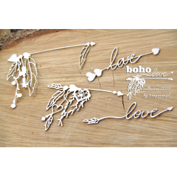 Chipboard-BOHO small arrows/4pcs