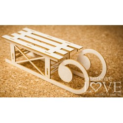 Chipboard - Winter Sleigh 3D / Large