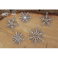 Chipboard - Snowflakes / 5pcs