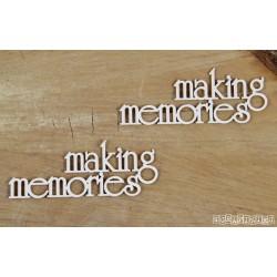 Chipboard -   Making memories /2pcs