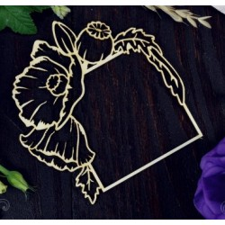 Chipboard - Poppy frame