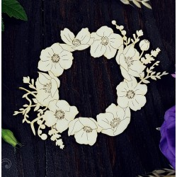 Chipboard - Poppy wreath