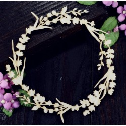 Chipboard - Lavender wreath
