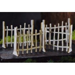 Chipboard 3D - Fence / 4pcs