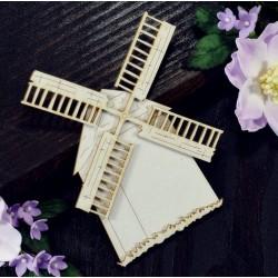 Chipboard - Layered Windmill