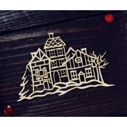 "Chipboard - Winter Town ""A"""