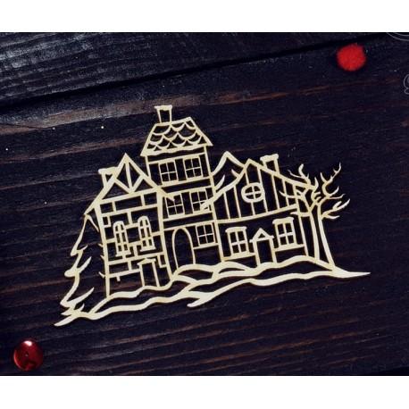 "Chipboard - Winter Town ""A"""
