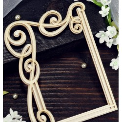 Chipboard - Wisteria Rectangular Frame  / layered