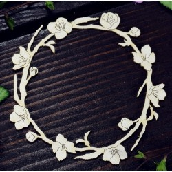 Chipboard -  Cherry Wreath