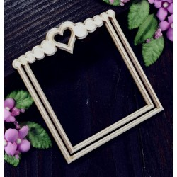Chipboard - Circle romantic frame