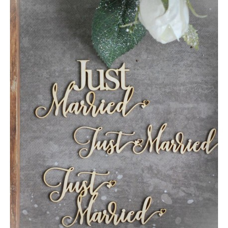Chipboard - Just Married /3pcs