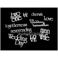 Chipboard - Sheet of Wedding Words