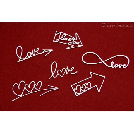 Chipboard - Love arrows