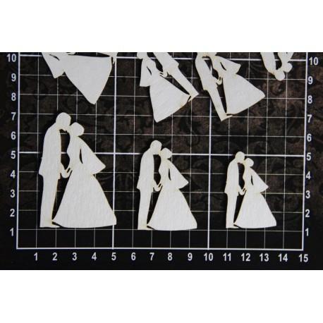 Chipboard - Set of couples / 9pcs