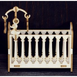 Chipboard -  Baby Crib /3D