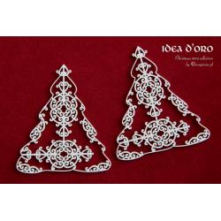 Chipboard - Tatting Christmas Trees