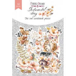 "DIE CUT Elements - ""Sentimental story / 58 pcs"