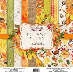 Scrapbooking Paper- 12x12 Sheet - BOTANY WINTER