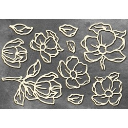 "Chipboard - Set ""Magnolia"""