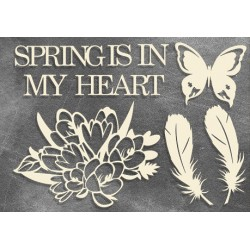 "Chipboard - Set ""Botany Spring"""