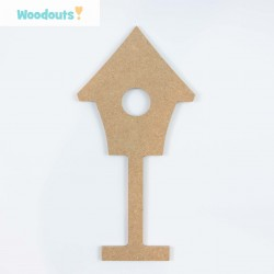 "MDF -Large Shape - BIRDHOUSE  ""A"""