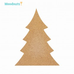 MDF -Large Shape - CHRISTMAS TREE 18 cm