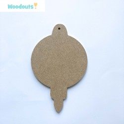 "MDF -Large Shape - CHRISTMAS BAUBLE ""A"""