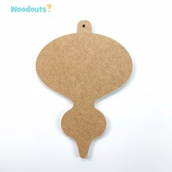 "MDF -Large Shape - CHRISTMAS BAUBLE ""B"""