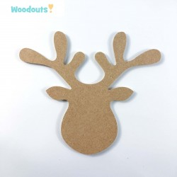 MDF -Large Shape - REINDEER HEAD
