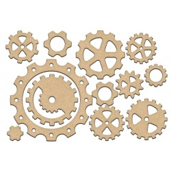 MDF - Set of Gears / 13 pcs