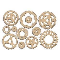 MDF - Set of Gears / 13 pcs
