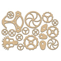 MDF - Set of Gears / 18 pcs