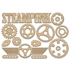 MDF - Steampunk Set / 17 pcs