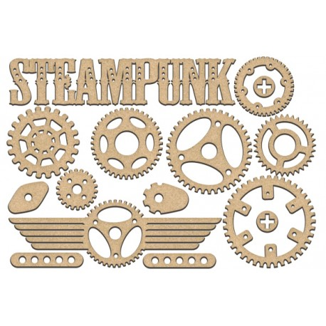 MDF - Steampunk Set / 17 pcs