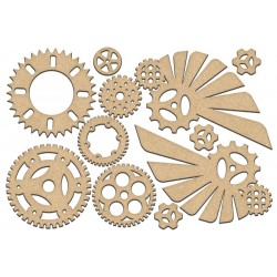 MDF - Set of wings  and gears / 11 pcs