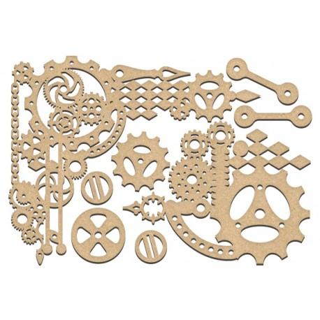 MDF - Guts of steampunk clocks