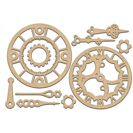 MDF - Set of big clocks and hands