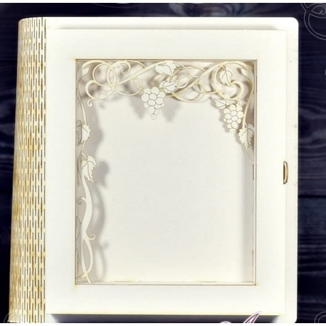 Box - Decor Book / Rectangular Base with vines leaves
