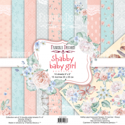 Scrapbooking Paper - SHABBY BABY GIRL ( 8X 8 )