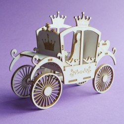 Chipboard - Wedding Carriage (3D)
