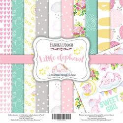 Scrapbooking Paper - LITTLE ELEPHANT ( 12X12 )