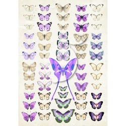 Scrapbooking Paper-  A4 Sheet   Butterflies 041